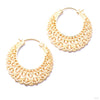 Manuka Earrings from Maya Jewelry in yellow gold
