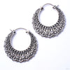 Manuka Earrings from Maya Jewelry in white brass