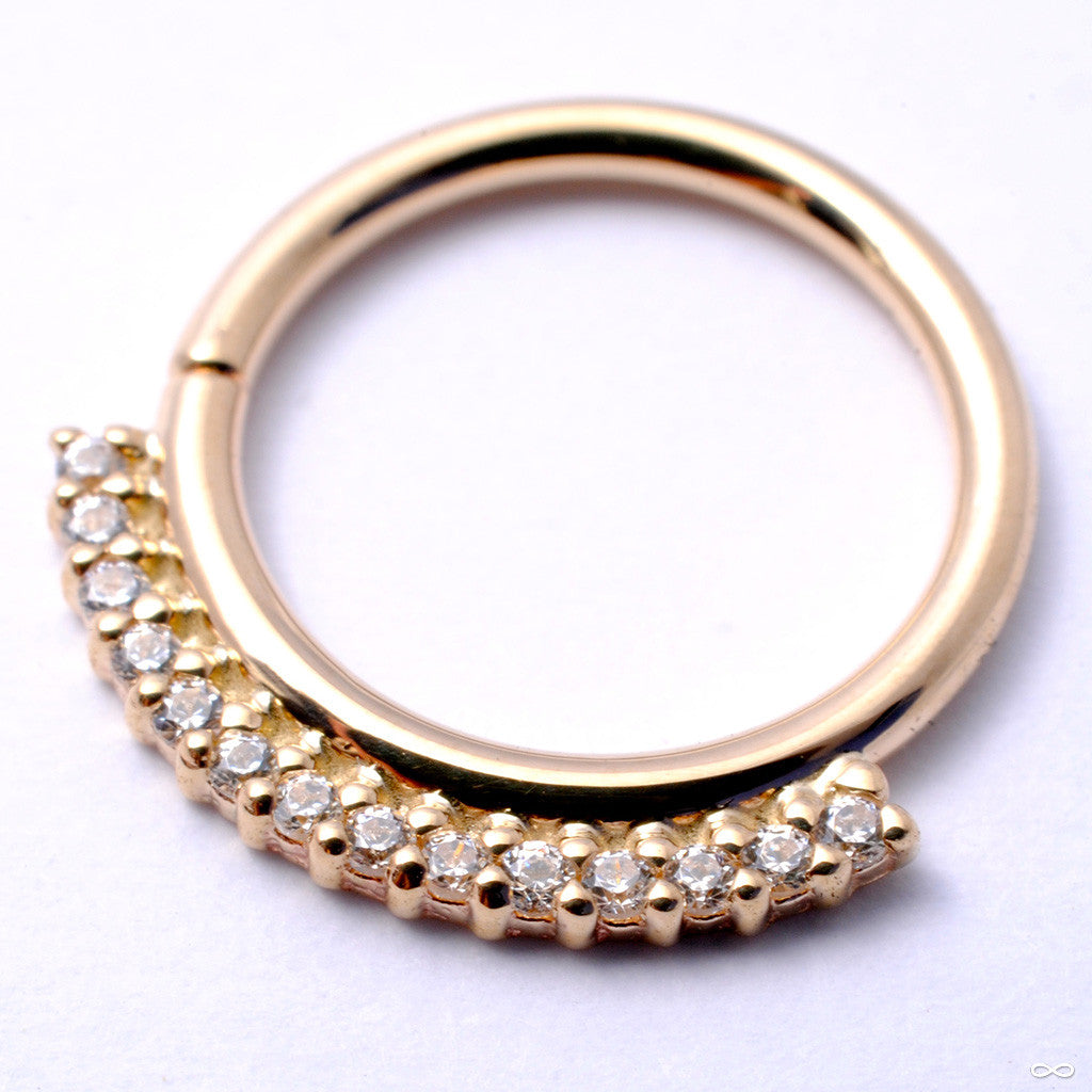 Dahlia Seam Ring in Gold from BVLA