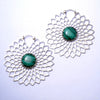 Dahlia Earrings with Stone from Tawapa with Malachite