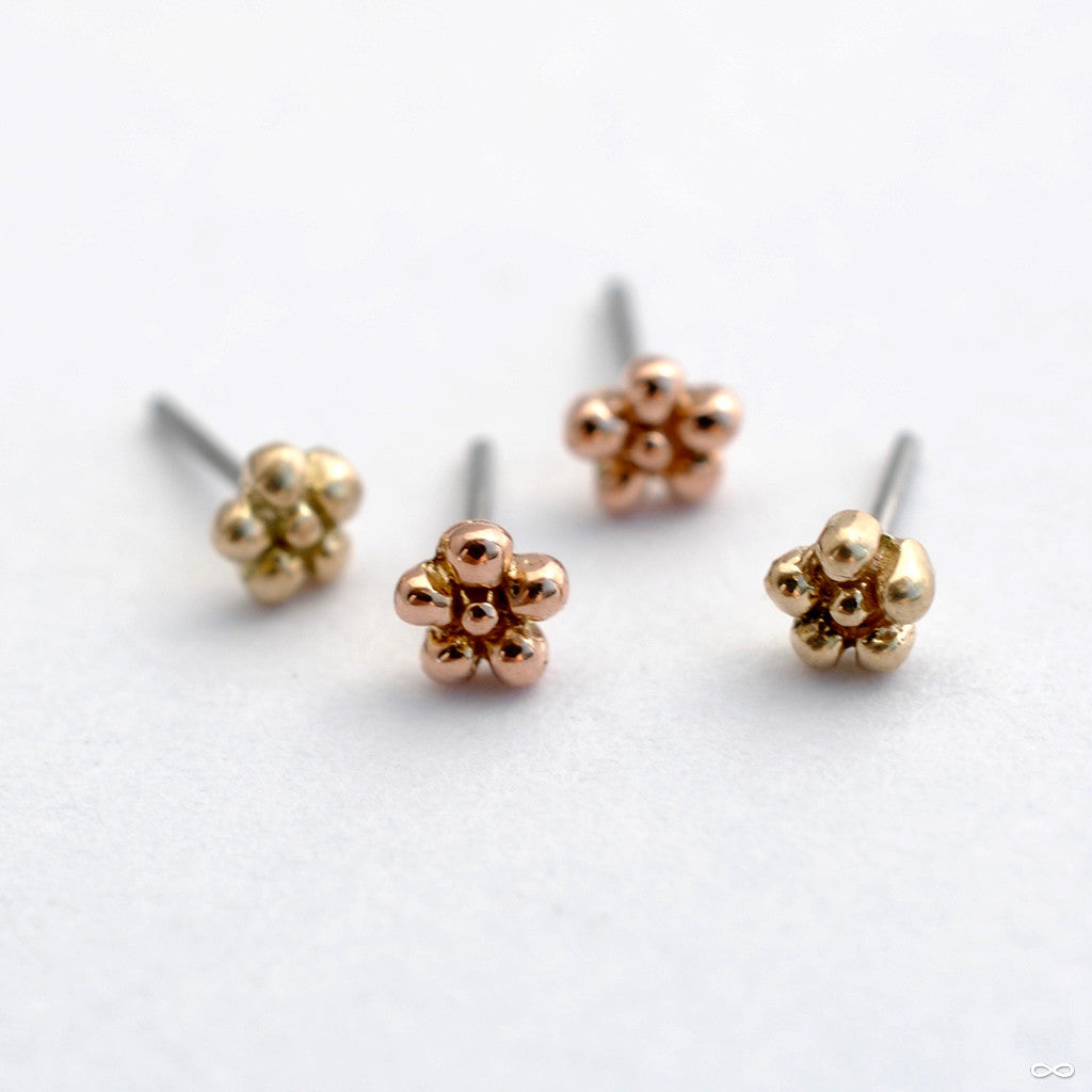 Daisy Press-fit End in Gold from LeRoi in Assorted Metals