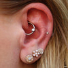Daith piercing with Captive Bead Ring from SM 316 with gem bead