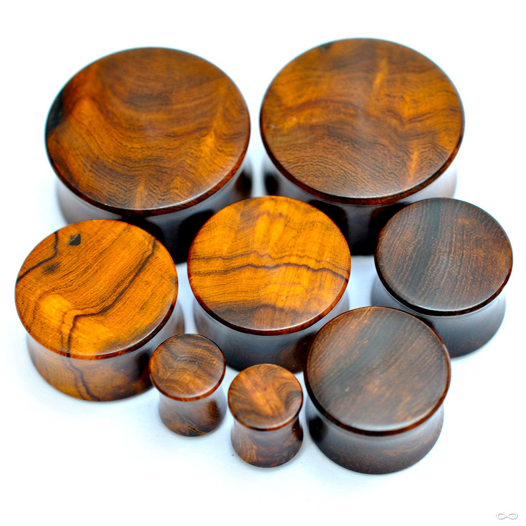 Desert Ironwood Burl Plugs from Bishop Organics