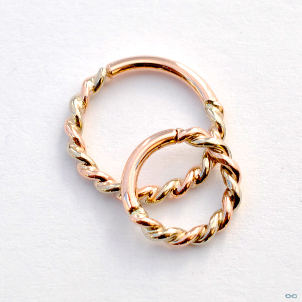 Tri-tone Desiree Seam Ring in Gold from BVLA
