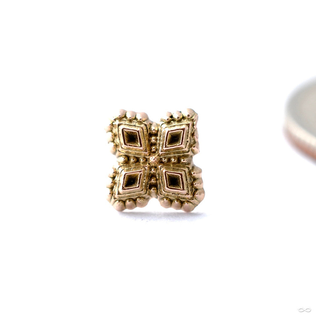 Diamond Cluster Press Fit End In Gold From Sacred Symbols