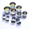 Dichroic Plugs from Gorilla Glass in Gold