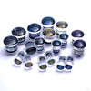 Dichroic Plugs from Gorilla Glass in Assorted Sizes and Colors