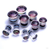 Dichroic Plugs from Gorilla Glass in Pink