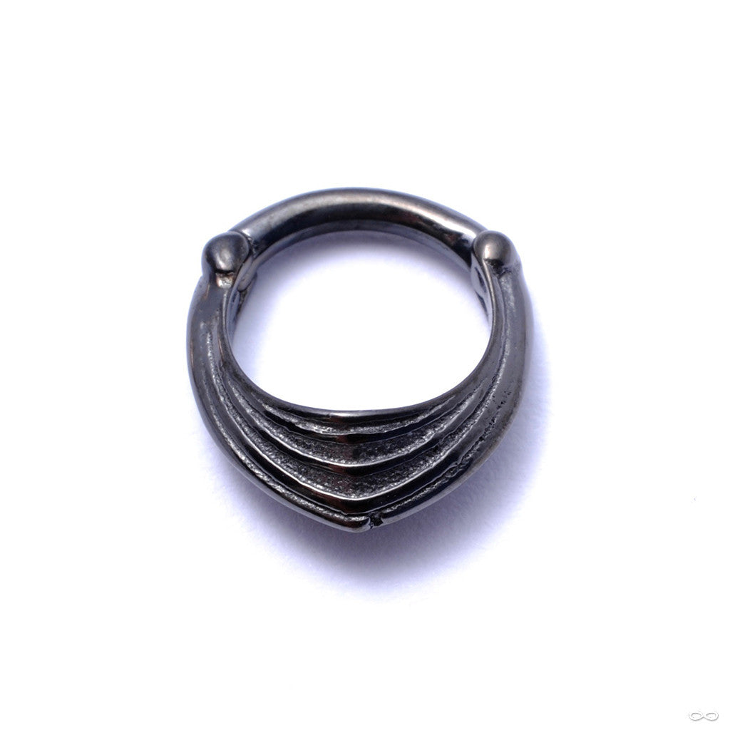 Drake Cuff Clicker from Tether Jewelry in Obsidian