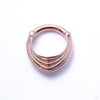 Drake Cuff Clicker from Tether Jewelry in Rose Gold