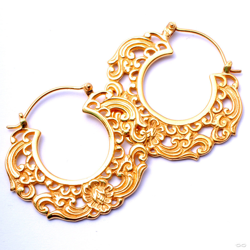 Duchess Earrings from Maya Jewelry in Yellow Gold-plated Brass