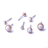 Bezel-set Cabochon Press-fit End in Gold from LeRoi in Ivory