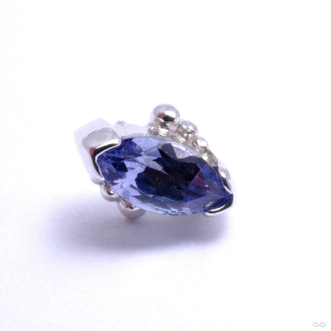 Beaded Marquise Press-fit End in Gold from BVLA with Tanzanite