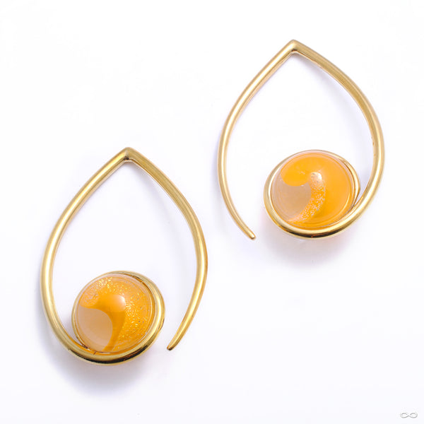 Orb Weights from Gorilla Glass and Diablo Organics with orange glass
