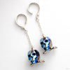 Crystal Skull Weights from Phoenix Revival Jewelry in Metallic Blue