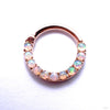 Eternity Clicker in Gold from Venus by Maria Tash with White Opal