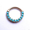 Eternity Clicker in Gold from Venus by Maria Tash with Turquoise