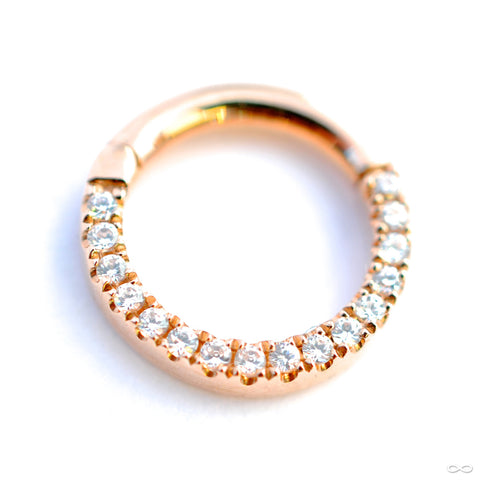 Eternity Clicker in Gold from Venus by Maria Tash with Clear CZ