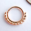 Milo Seam Ring in Gold from BVLA in 14k Rose Gold
