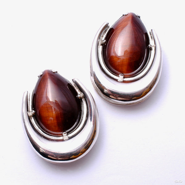 "Platform Saddle Spreader Weights with Red Tiger's Eye in 1"" from Diablo Organics"