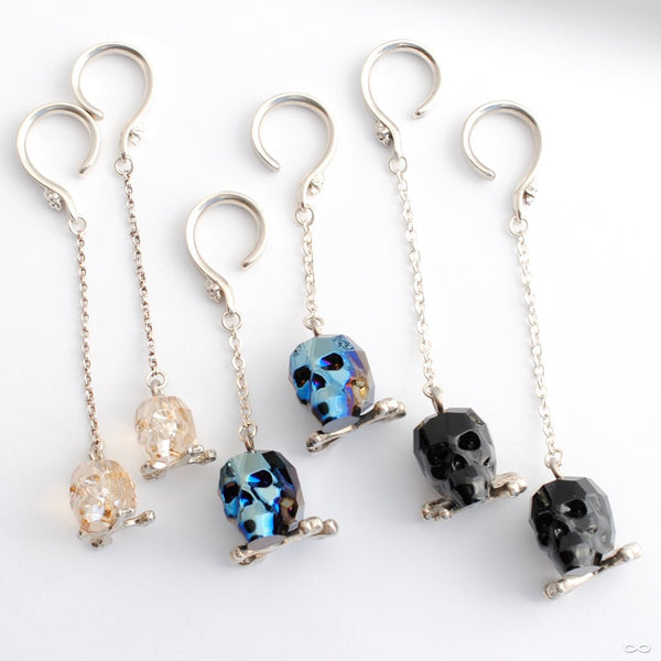 Crystal Skull Weights from Phoenix Revival Jewelry in Assorted Colors