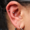 Outer Helix piercing with Ball Press-fit End in Titanium from NeoMetal in 1/8