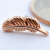 Feather Press-fit End in Gold from BVLA in Rose Gold