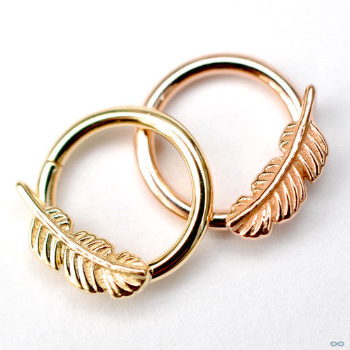 Feather Seam Rings in Gold from BVLA