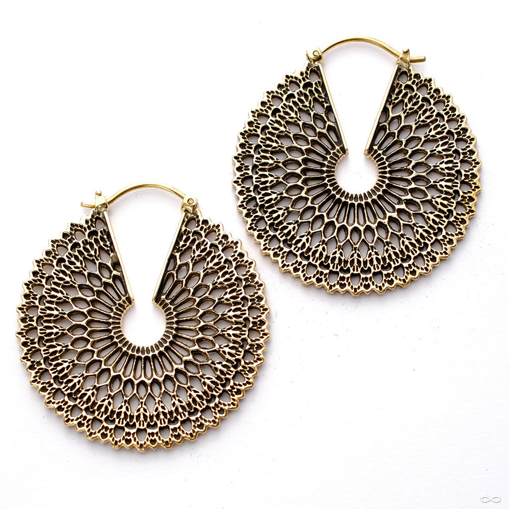 Forte Earrings from Maya Jewelry in Brass