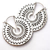 Forte Earrings from Maya Jewelry in White Brass