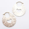 Hammered Hoops from Quetzalli in White Brass