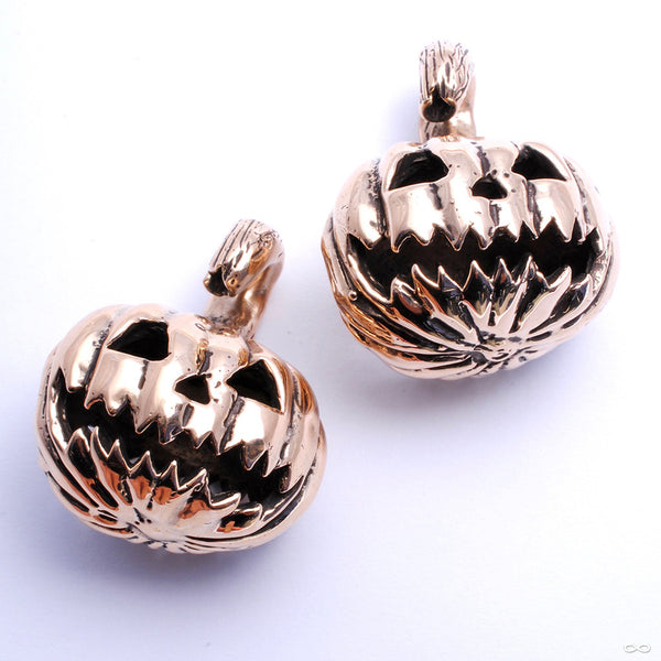 Jack-O-Lantern Weights in Bronze from Blessings to You