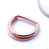 Jenn Hinged Ring in Gold from BVLA in Rose Gold