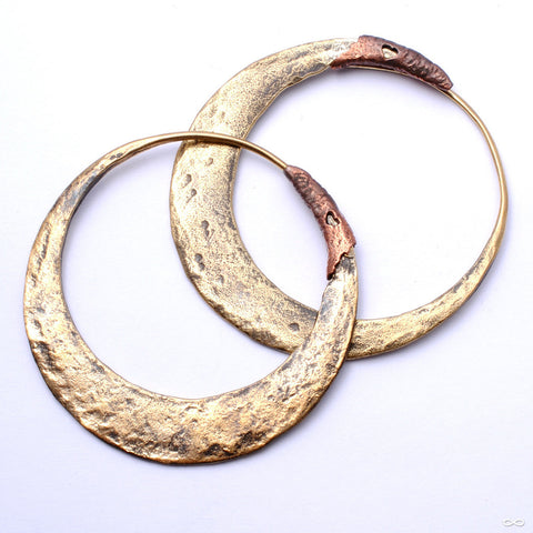 Junk Punk Earrings from Maya Jewelry in Brass