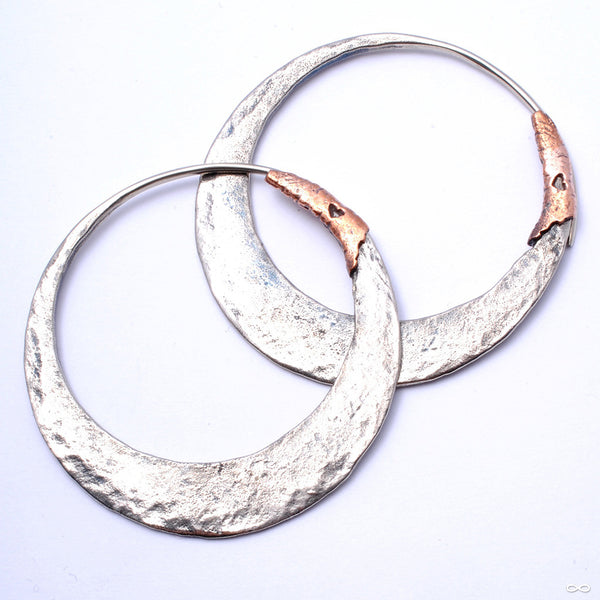 Junk Punk Earrings from Maya Jewelry in White Brass