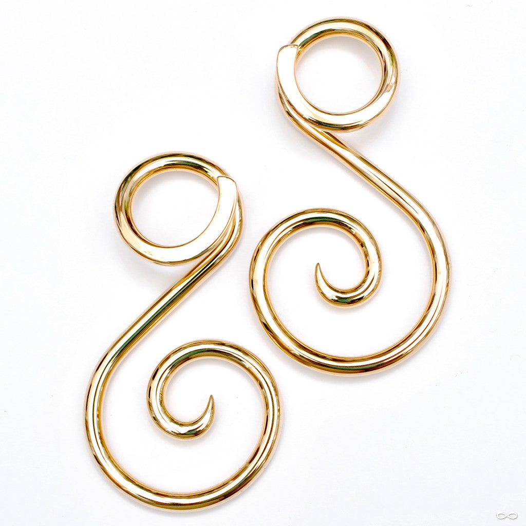 Ansari Spirals from Little 7 in 8g Brass, medium
