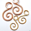 Ansari Spirals from Little 7 in Large Copper & Medium Brass