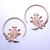 Maxa Earrings from Maya Jewelry in Rose Gold-Plated Copper
