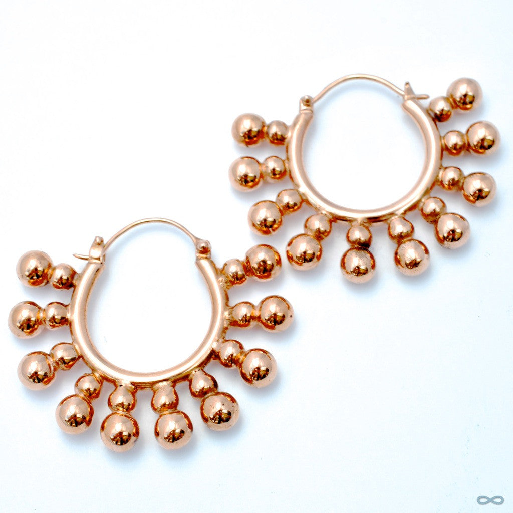 Punk Earrings from Maya Jewelry in Rose Gold-plated Copper
