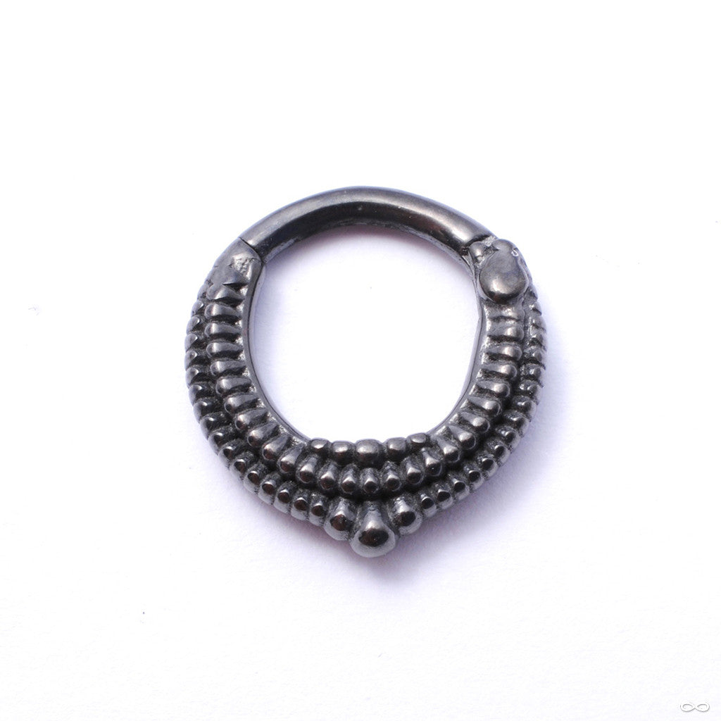 Melange Clicker from Tether Jewelry in Obsidian