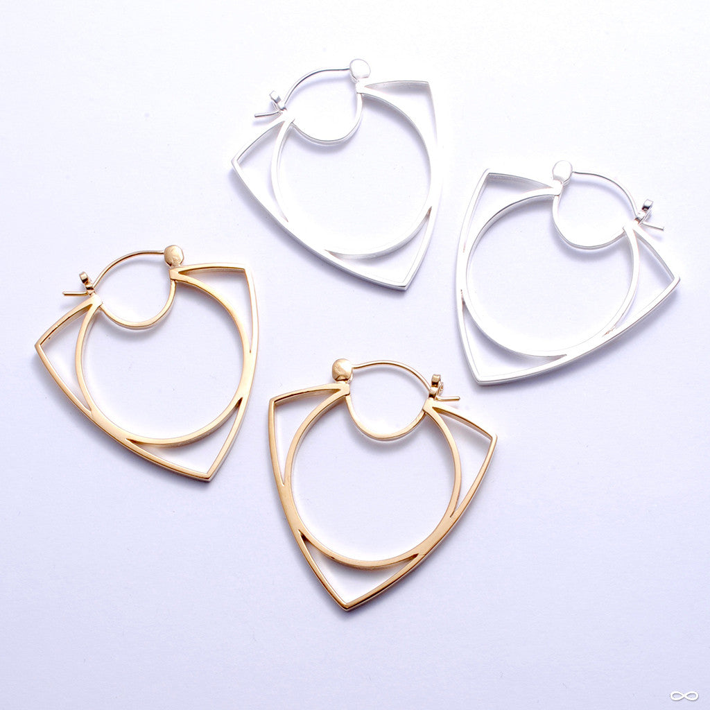 Ménage à Trois Earrings from Tawapa in Assorted Metals