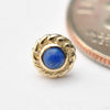 Mini Choctaw Press-fit End in Gold from BVLA with Lapis