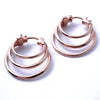 Mini Saturn Earrings from Maya Jewelry in Rose Gold