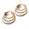 Mini Saturn Earrings from Maya Jewelry in Yellow Gold
