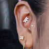 Conch Piercing with Valentina with Stone Press-fit End in Gold from Buddha Jewelry