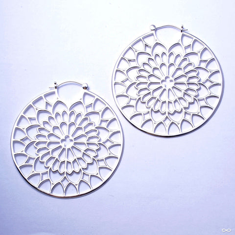 Notre Dame Earrings from Tawapa in Silver