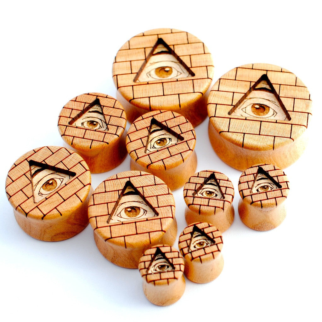 All-Seeing Eye Plugs from Omerica Organic