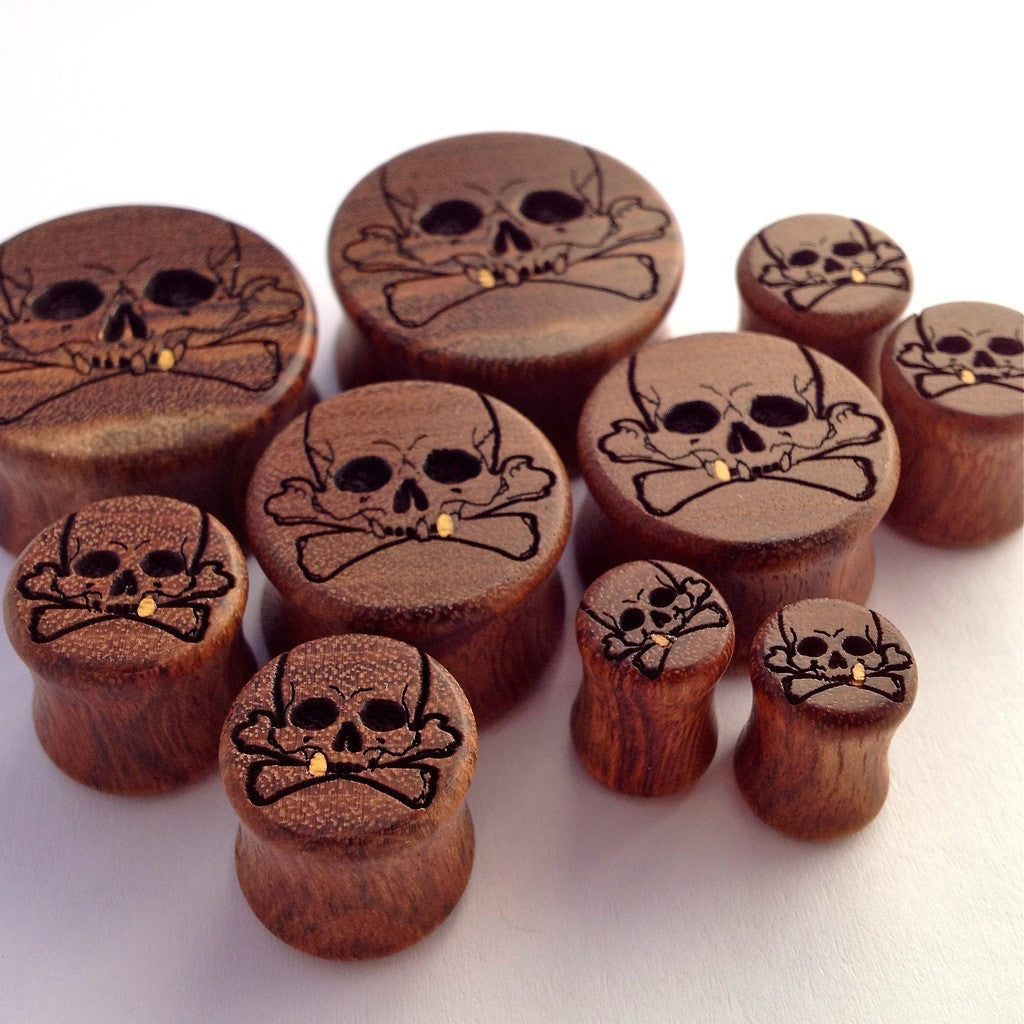 Crossbones Plugs from Omerica Organic in Chechen