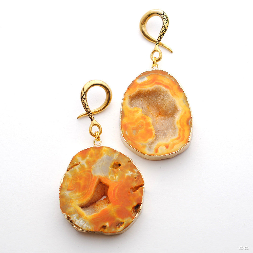 Crossovers with Orange Druzy Agate from Oracle