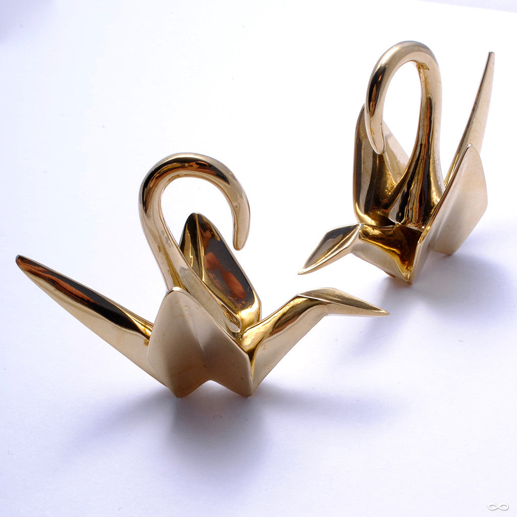 Origami Crane Weights from Tawapa in Brass